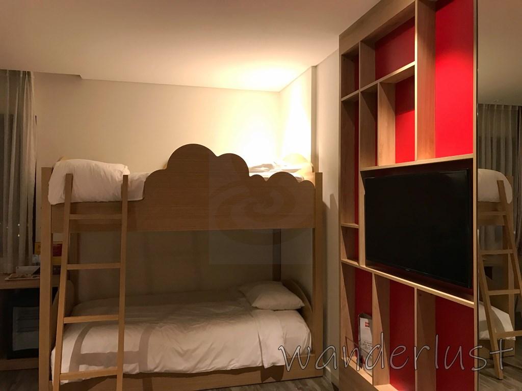ファミリールームの2段ベッド