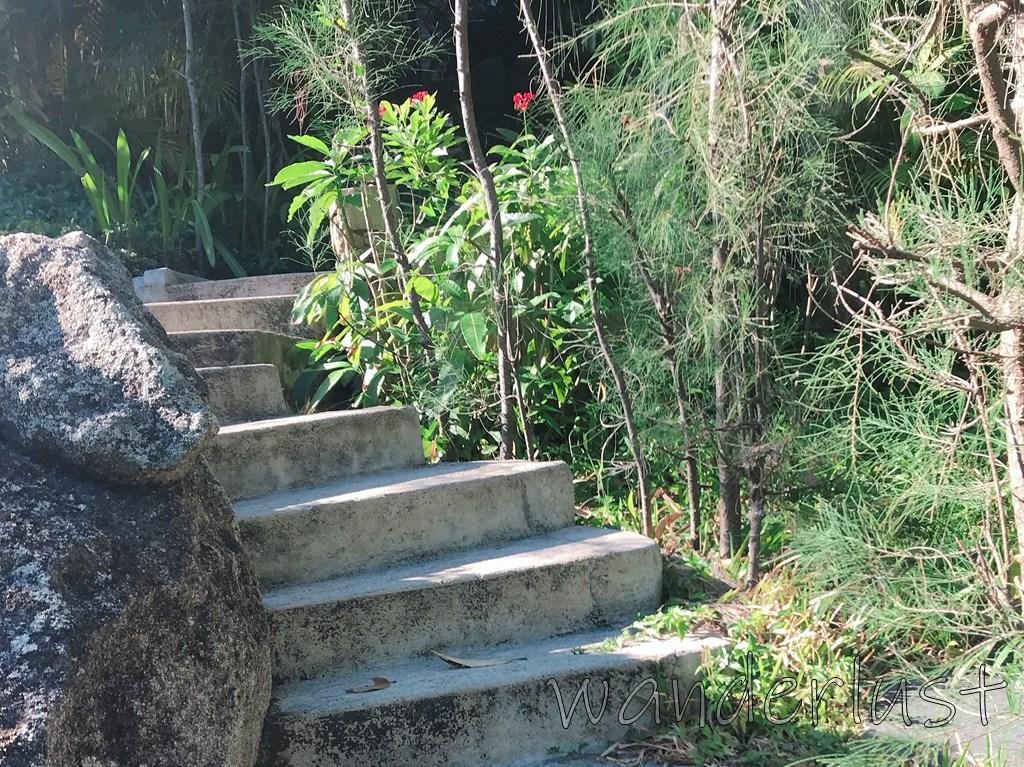階段を上ってクラスターへ