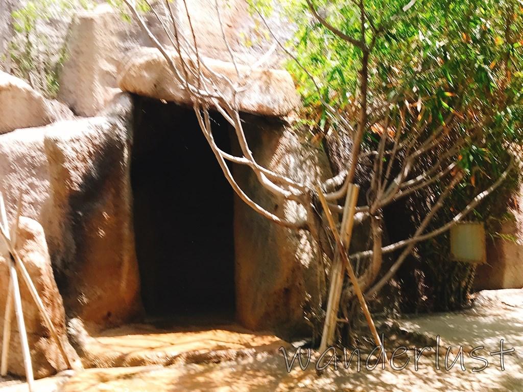 ハイドロセラピーはこの洞窟の中