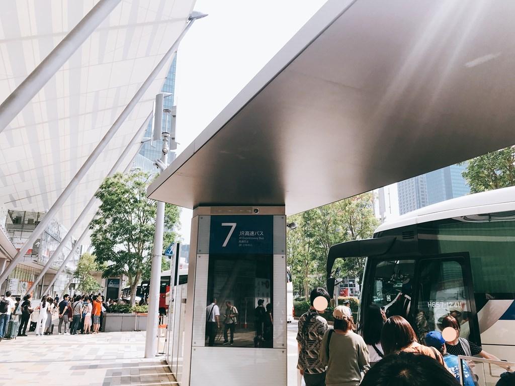 アクセス成田のバス停はわかりやすい