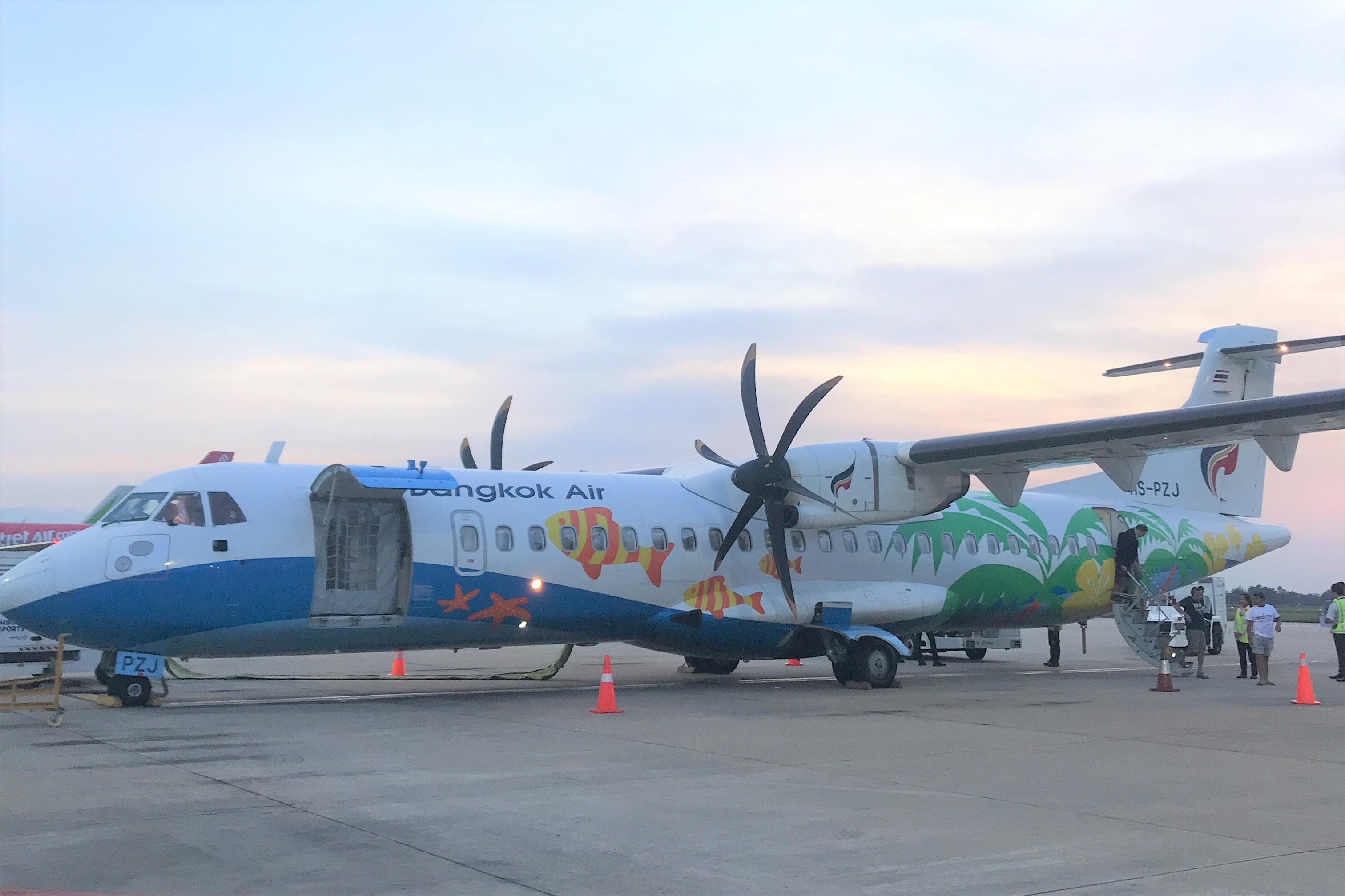 バンコクエアウェイズの飛行機